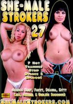 Jessica strokes solo in Shemalestrokers #27