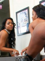 Sexy newcomer Anna After Dark shows off her sexy in the members area of black-tgirls.com
