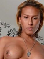 TS Jamie Croft shows off her big cock at transerotica.com