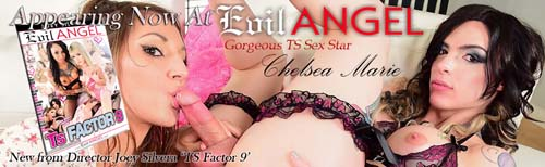 TS Chelsea Marie dumps her hot cum on a kinky girls face in TS Factor 9